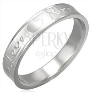 Nemesacél gyűrű - Love & Kiss