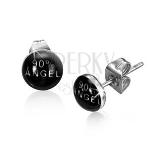 Beszúrós fülbevaló sebészeti acélból, 90% Angel