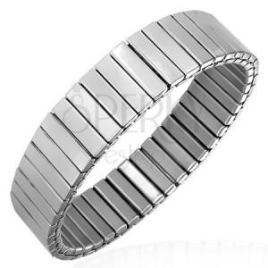 Széthúzható acél karkötő ezüst színben, 11 mm
