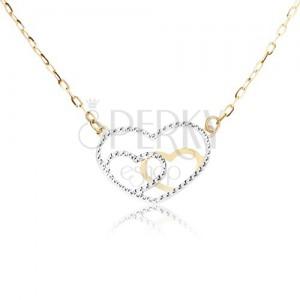 Nyaklánc 14K sárga aranyból - szabályos szívkörvonal, lánc