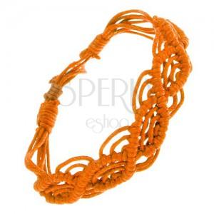 Narancssárga zsinóros karkötő, hullámminta