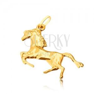 Arany medál - hátsó lábain álló fényes ló