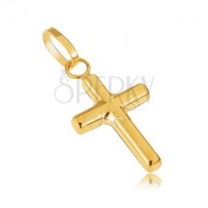 Arany medál - apró latin kereszt, tükörfényű csillogás
