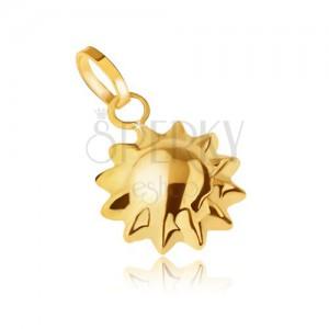 Arany medál, háromdimenziós napocska, csúcsos sugarak