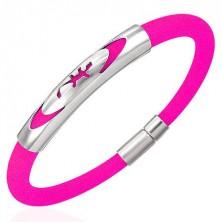 Gumi karperec - gyík az ellipszisben, rózsaszín
