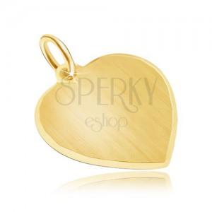 Arany medál - nagy szimmetrikus szatén szív, csillogó szél