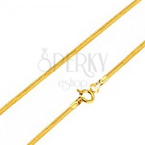 Nyaklánc 14K sárga aranyból - kígyó bőr mintájú részek, 440 mm