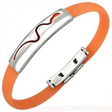Gumi karperec - kúszó kígyó, narancsszínű