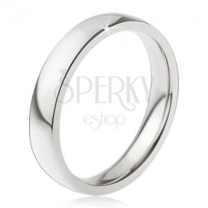 Karikagyűrű 316L acélból, fényes sima felület, 4 mm
