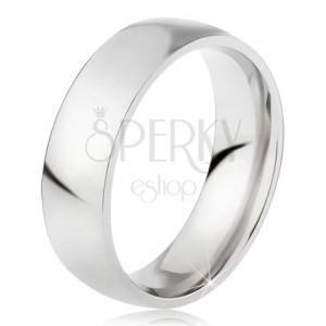 Acél gyűrű fényes ezüst színű felszínnel, 6 mm