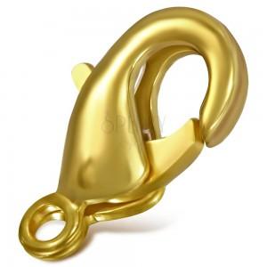 Delfinkapocs matt arany színben, 10 mm