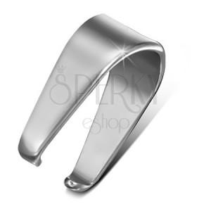 Ezüst színű acél horog medálra, 4,5 mm