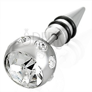 Hamis piercing - cirkónia köves gömb