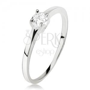 Gyűrű 925 ezüstből, átlátszó cirkónia négy pálcikával megfogva