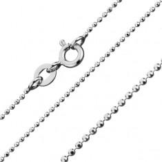 925 ezüst nyaklánc, katonai stílusban, 1 mm