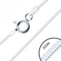 Vékony négyélű lánc, 925 ezüstből, 0,6 mm