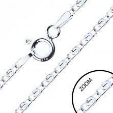 """Nyaklánc 925 ezüstből, """"S"""" alakú szemek, 2 mm"""