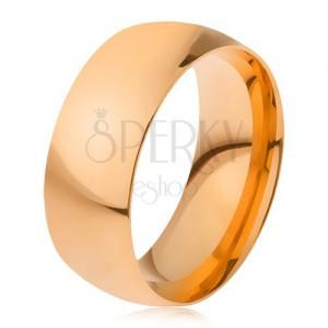 Aranyozott gyűrű, 316L acélból, fényes, sima felület
