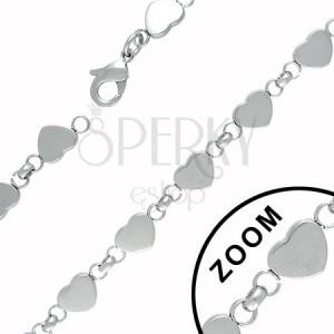 Szívecskékből összekapcsolt nyaklánc