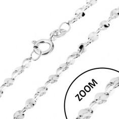 Nyaklánc 925 ezüstből - hullámos részek spirálban, 1,5 mm