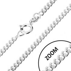Ezüst nyaklánc 925, csavart kerek szemek, 1,4 mm