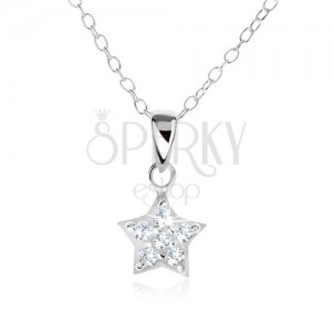 Nyakék 925 ezüstből, lánc és cirkóniás csillag