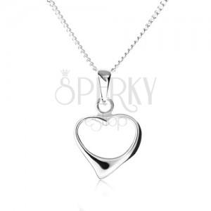 Nyakék 925 ezüstből, lánc csúcsos szabálytalan szívkörvonallal