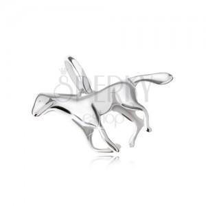 Medál - vágtató ló, 925 ezüst