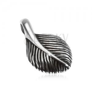 925 ezüst medál, kis patinás toll, sima felület