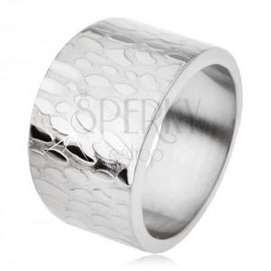 Titán gyűrű, szélesedő szárak, kidolgozott felszín