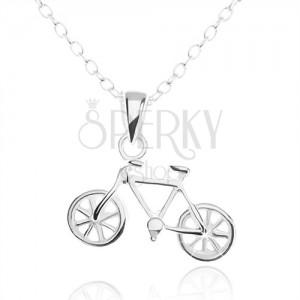 925 ezüst nyakék, részletesen kidolgozott bicikli medál