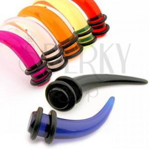 Akril taper fülbe - karom különböző színekben és nagyságban, gumicskák
