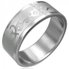 Gyűrű minőségi acélból - fényes ornamentumok