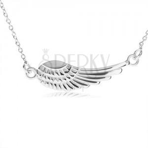925 ezüst nyakék, medál - angyalszárny gravírozással