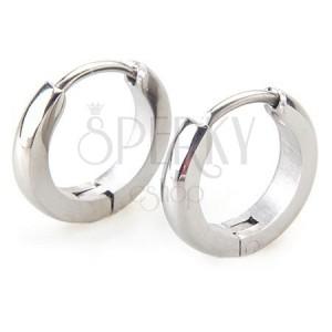 Fülbevaló sebészeti acélból ezüst színben, tükörfénnyel