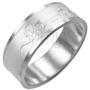 Gyűrű sebészeti acélból - fényes ornamentumok