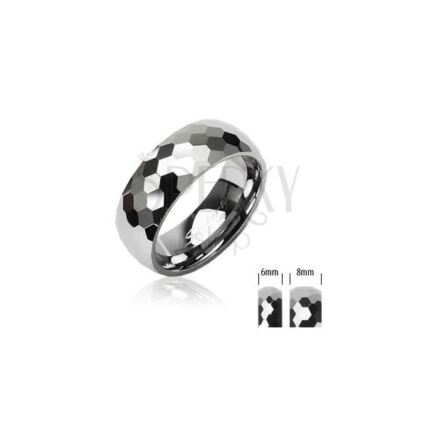Tungsten - wolfram karikagyűrű, disco minta