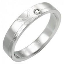Nemesacél gyűrű és cirkónia - Forever Love