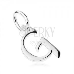 """Medál 925 ezüstből, tükörfényű nagy nyomtatott """"G"""" betű"""