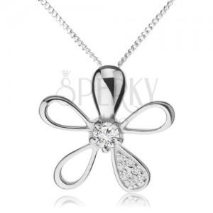 Állítható nyakék 925 ezüstből, virág különböző szirmokkal
