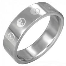 Ying - Yang gyűrű sebészeti acélból