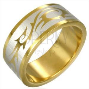 Aranyozott gyűrű - törzsi szimbólumok