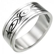 Minőségi acél gyűrű - TRIBAL motívumok