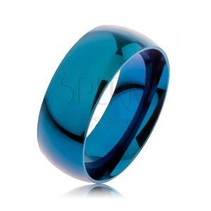 Gyűrű 316L acélból, kék szín, titániummal adonizált, 8 mm