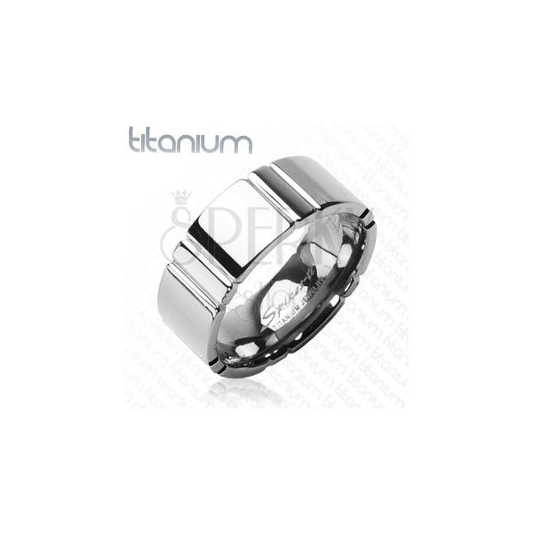 Keresztcsíkos gyűrű, titániumból