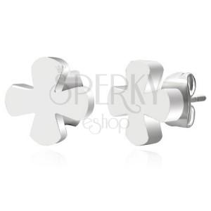 Fülbevaló 316L acélból, ezüst szín, egyenletes kereszt, stekkerek