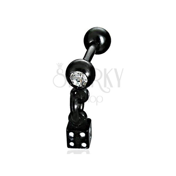 Fekete labret - függő dobókocka