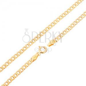 375 arany lánc - ovális alakú szemek, tükörfényes, 500 mm