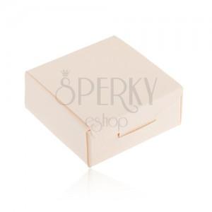 Ajándékdoboz - gyűrűre, medálra vagy fülbevalóra, krém szín