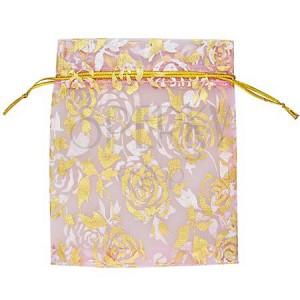 Ajándék csomagolás - vászon táska, rózsaszín